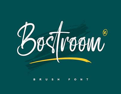Free Bostroom | Brush Font