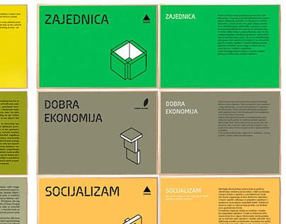 grafičko oblikovanje izložbe i oblikovanje postava