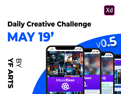 MovieBase - Behance Daily Creative Challenge, May 19'