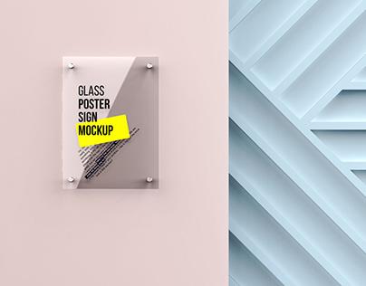 Glass Poster Mockup