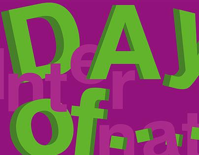 Set of posters celebrating international days