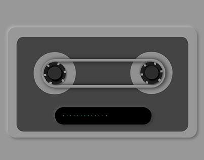 Neumorphic style cassette interaction