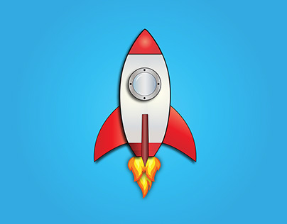 Vector Illustration - Rocket and Astronaut
