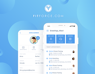 UI/UX for Fitness IOS app | Client Relationship Manager