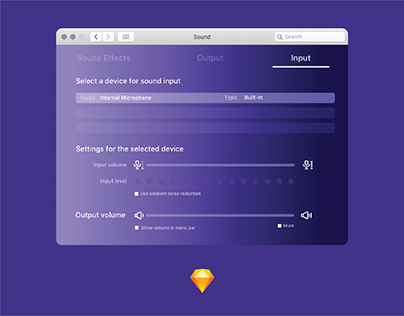 Daily Ui 007-Settings (MacOs Sound Settings)