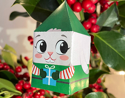 Christmas paper toy
