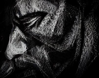 Michael Fassbender`s portrait