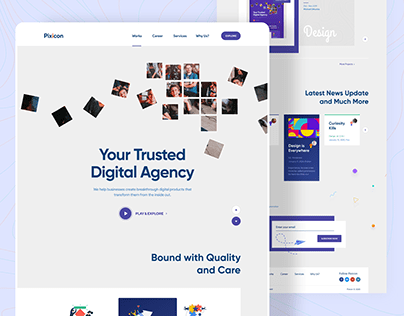 Pixicon Website Design (V.2)