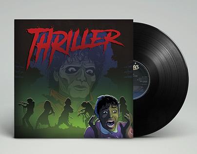 """Thriller"" Vinyl Record Sleeve Design"