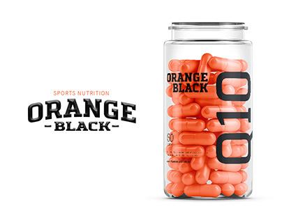 ORANGE BLACK sports nutrition