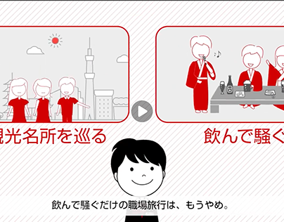 JTB「職場旅行3.0」事業紹介映像イラスト