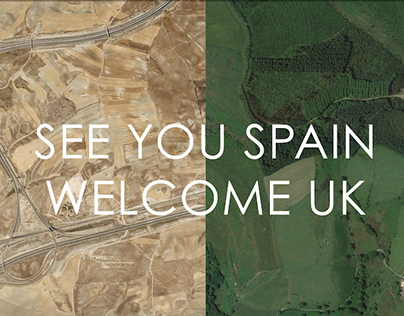 SEE YOU SPAIN, WELCOME UK // graphic design