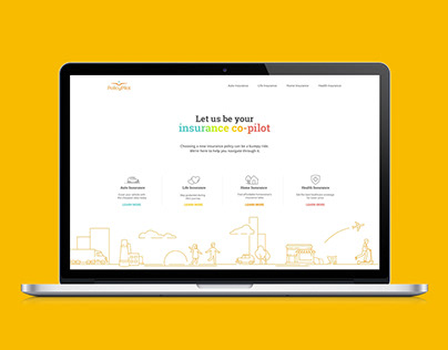 Policy Pilot Insurance. 99design.com Contest Winner.