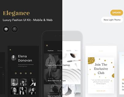 ELEGANCE - Luxury Fashion Web & Mobile UI Kit