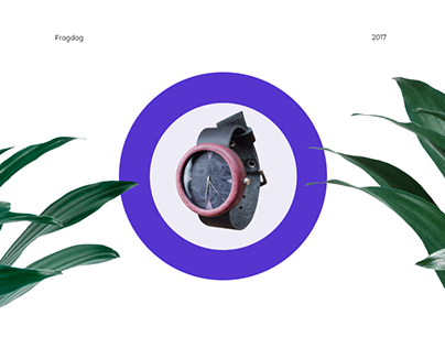 Frogdog Wooden Watches - landing page
