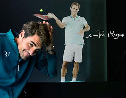 Roger Federer Interactive Hologram