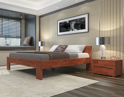 Bedroom in 3ds Max and Vray