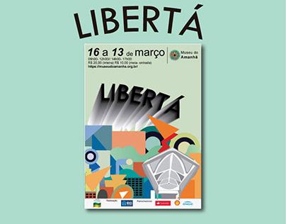 Exposição LIBERTÁ - Futurismo (Cartaz)