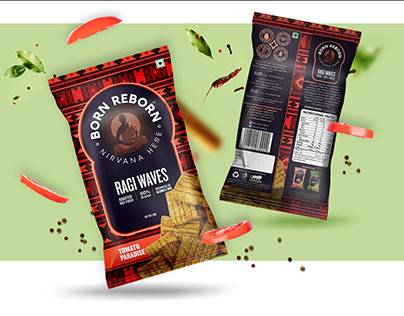 BORN REBORN HEALTHY SNACKS PACKAGING DESIGN