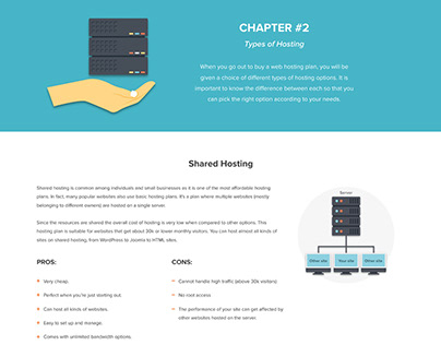 Web Hosting 101 Infographic - Chapter 2 (Hosting Types)