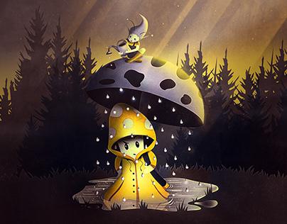 Rain Drops   Digital Art