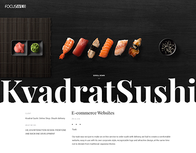 KvadratSushi E-commerce Website