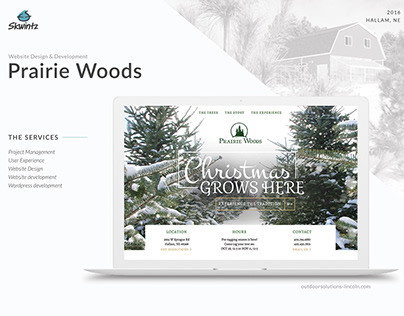 Prairie Woods website redesign