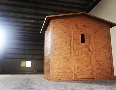 Design project: the aluminium sauna.