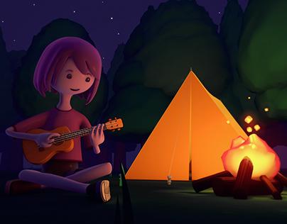 Camping / 3D Render