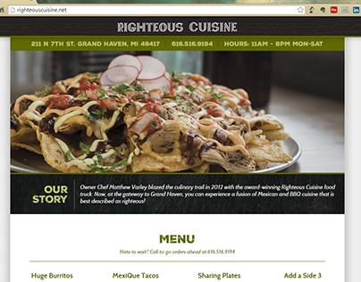 Righteous Cuisine Website