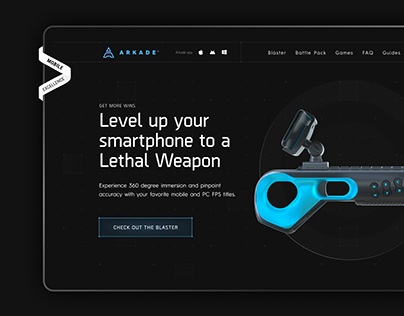 Arkade — 360º presentation of the blaster