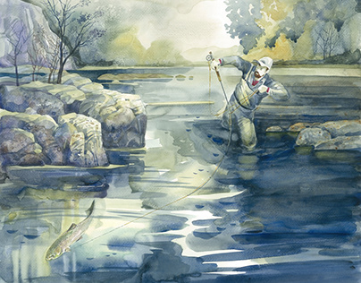 вечерняя рыбалка 5