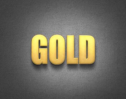 Free Golden Logo Mockup PSD