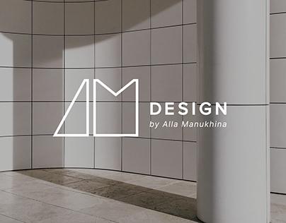 Interior design studio logo and brand identity