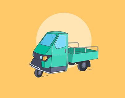 Car illustration design
