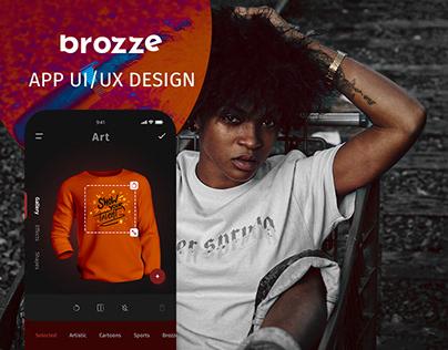 brozze app ui/ux design
