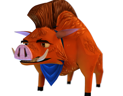 3D Boar Videogame Character Project