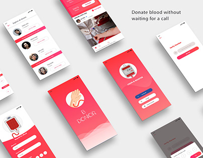 UI for blood donation app