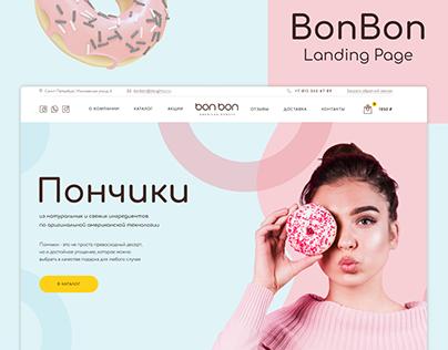BonBon Donuts   Landing Page