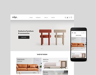 Furniture store E-commerce Website