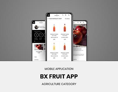 BX Fruit App- R&D (UX/UI) -Case Study