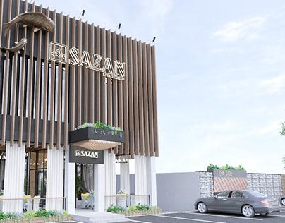 """Ресторан """"SAZAN"""" - фасад"""