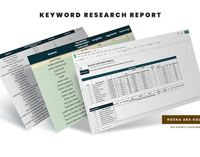 Keyword Research Report