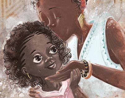 Uma mãe e sua filha