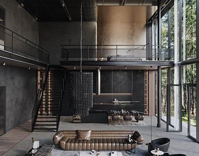 Modern Loft In The Woods, Australia by Sarah Habib