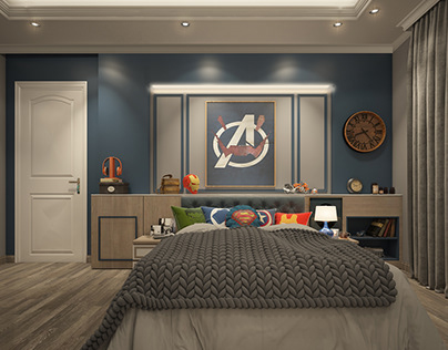 Avengers boy bedroom