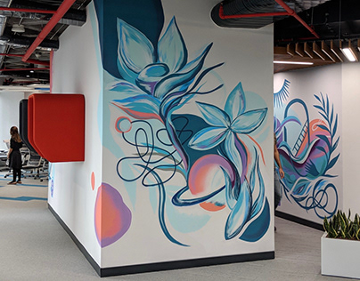 Is Bank Office Mural Painting