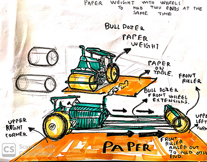 ROAD ROLLER PAPER WEIGHT