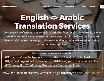 Translate to Arabic Website
