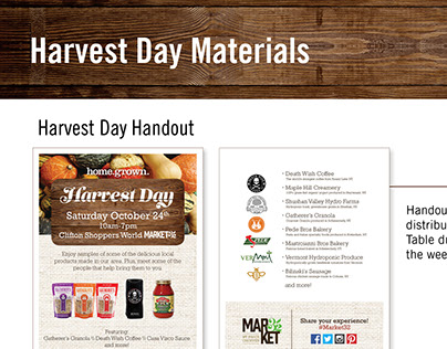 Market 32 Harvest Day Material